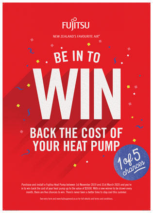 Ezibreeze and Fujitsu Be in to Win back the cost of your Heat Pump